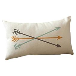 Kimloog Arrow Print Stylish Rectangle PillowCases Festival T