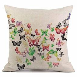 KMG Kimloog 18 X 18 Inch colorful Butterfly Throw Pillow Cas