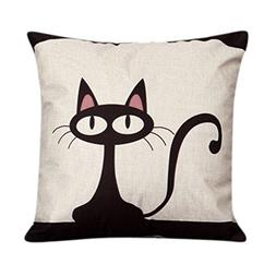 KMG Kimloog Cute Cartoon Black Cat Throw Pillow Case 18 X 18