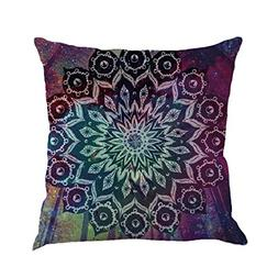 Kimloog Hot Sale!Mandala Pillow Case Bohemia Design Indoor O