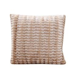 KMG Kimloog Plush Striped Fluffy Faux Fur Throw Pillow Case