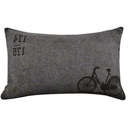 KMG Kimloog Retro Bicycle Burlap Linen Decorative Throw Pill