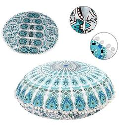 KMG Kimloog Round Pillow Cover, Decorative Mandala Pillow Sh
