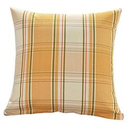 Kimloog Square Decorative Throw Pillow Cover 18''x18''Plaid