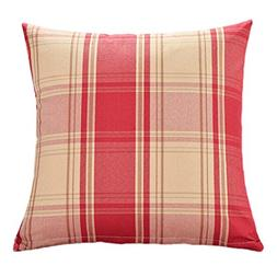 KMG Kimloog Square Decorative Throw Pillow Cover 18''x18''Pl