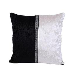 KMG Kimloog Square Patchwork EURO Throw Pillow Cover Velvet