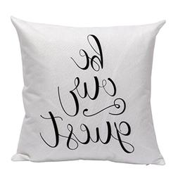 KMG Kimloog Stylish Letters Throw Pillow Case Sofa Waist Hid