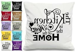 Kitchen Is The Heart Of The Home Quote Scatter Cushion Throw