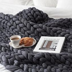 MEMORECOOL LIGHT UP YOUR HOME Knit Blanket Throw Grey - Baby