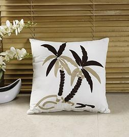 Kona By Chezmoi Collection Embroidered Tropical Palm Tree De