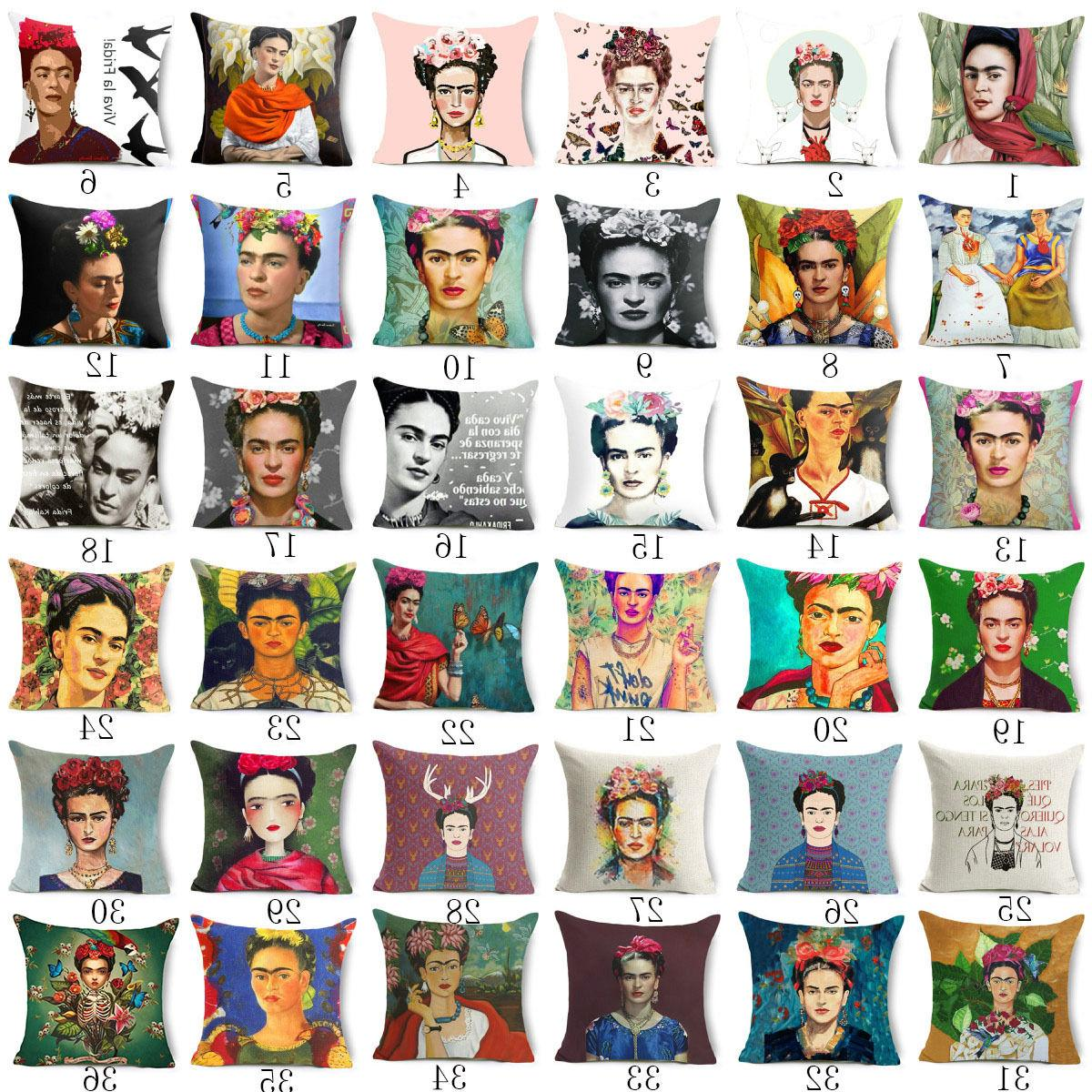 18'' Frida Kahlo Throw pillows Bed cushion cover