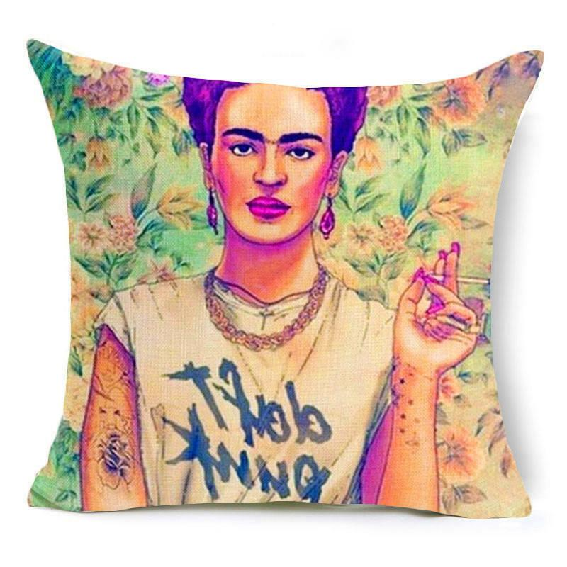18'' Almofada Kahlo Throw Bed cushion cover Decor