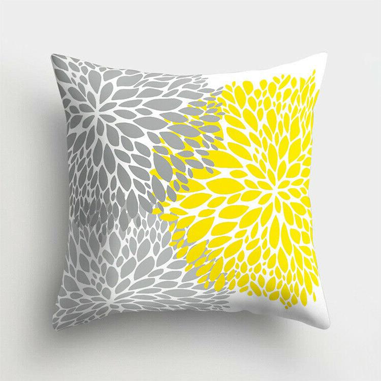 18'' Artifical Yellow pillows Bedroom