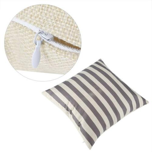 "18"" Cotton Home Decor Throw Case Waist Cover US"