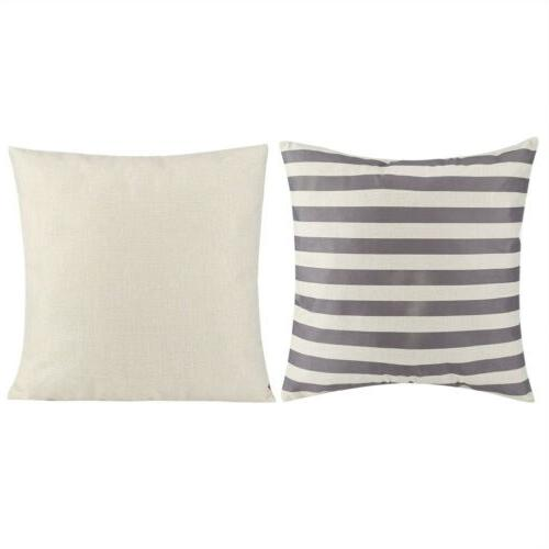 "18"" Linen Square Home Throw Pillow Case Cushion Cover US"