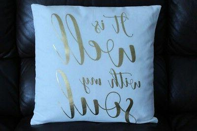 18 in throw pillow it is well