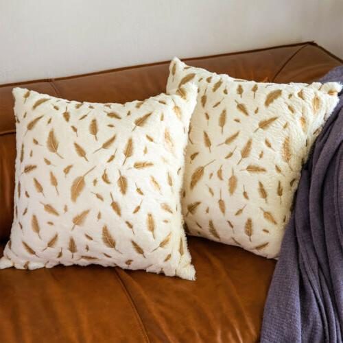 1 Soft Faux Pillow Case Bed Cover Square