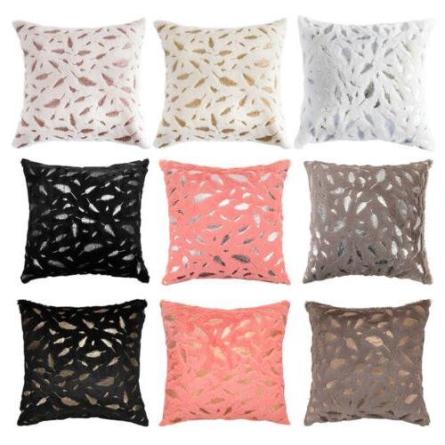 1 Soft Faux Fur Pillow Case Bed