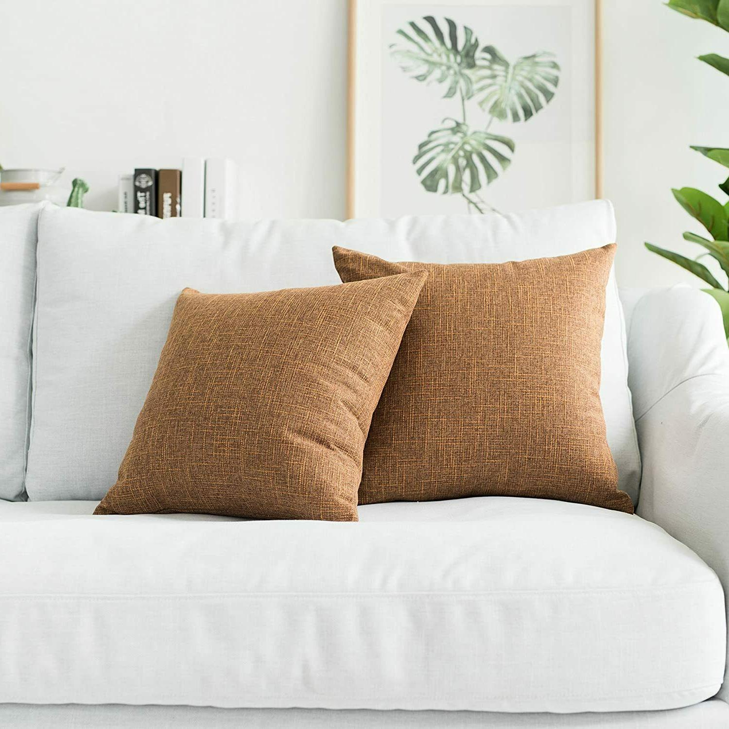 2 decorative throw pillow cover 16 x16
