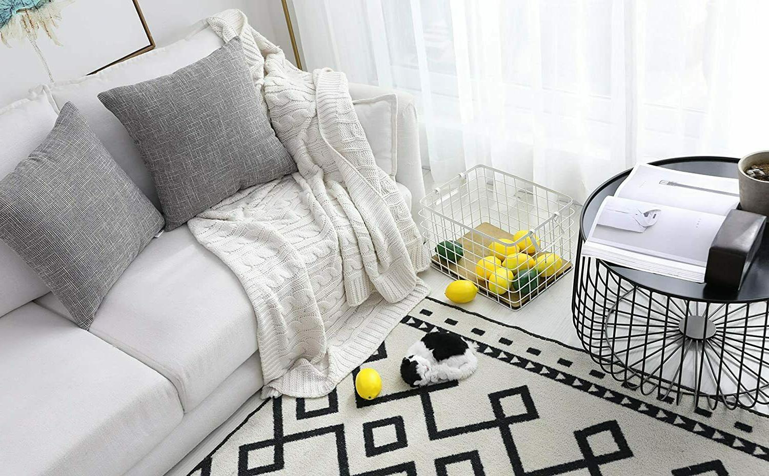 """2 Kevin Grey Faux Linen Covers 24"""""""