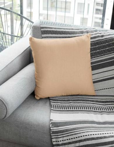 2 Pack Tan Beige Throw Couch Covers Modern Decor
