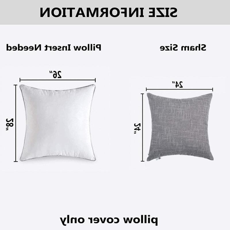 Kevin 2 Decorative Linen Throw Covers, Outdoor Pillows