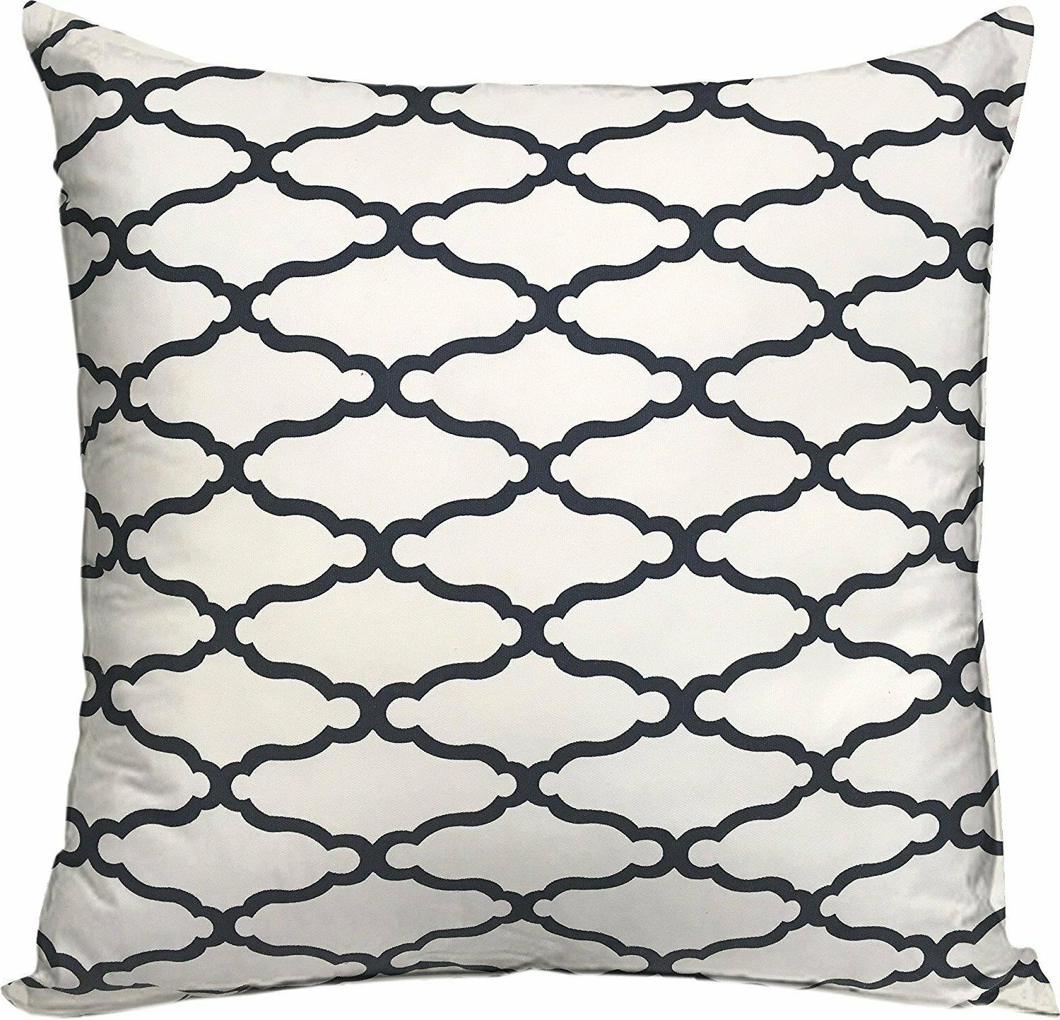 Threshold 2- Set Decorative Trellis Navy Toss Pillows 18in 18in