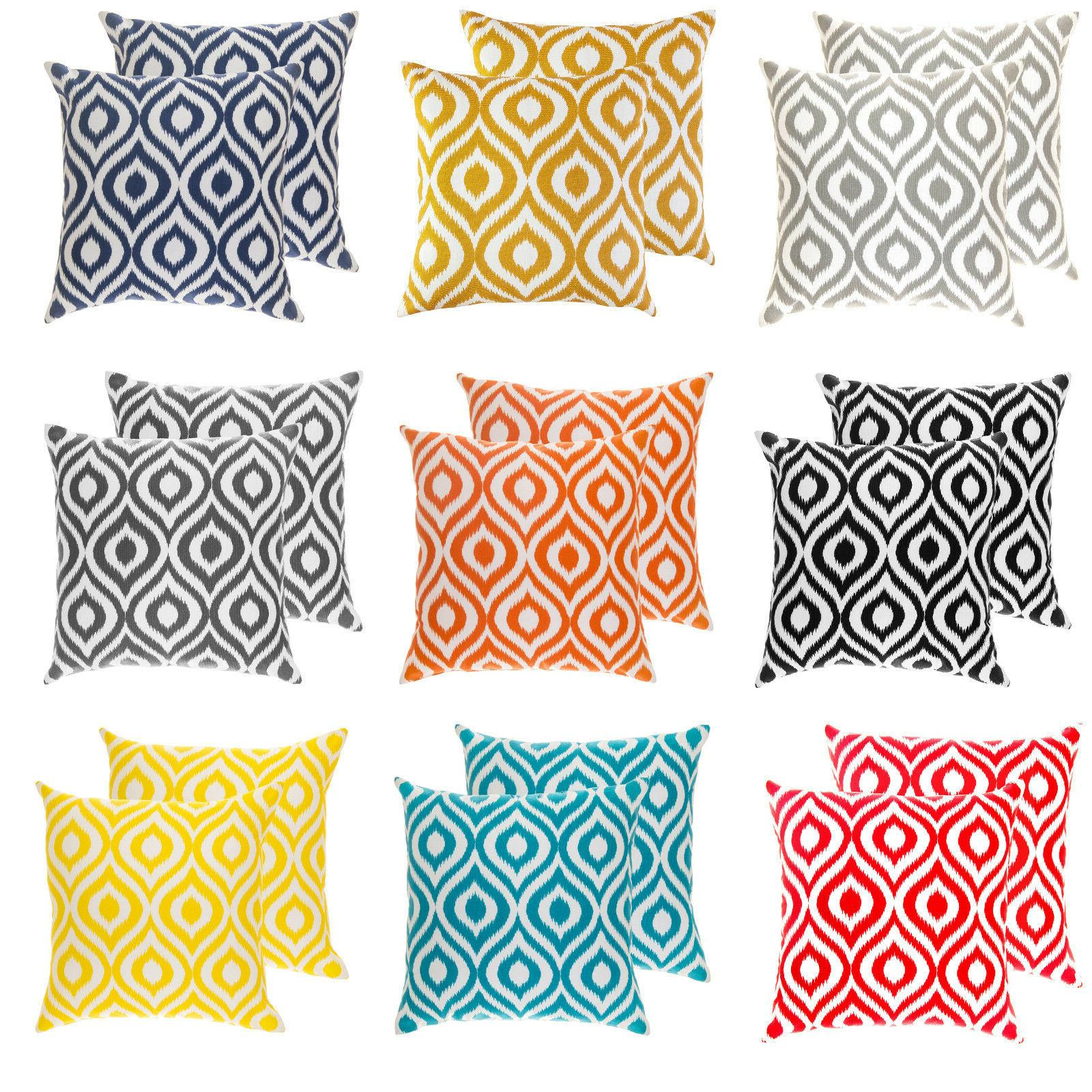2 pack throw pillow cushion covers in