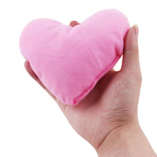 2 Cute Heart throw pillows Toy For Dog Pet