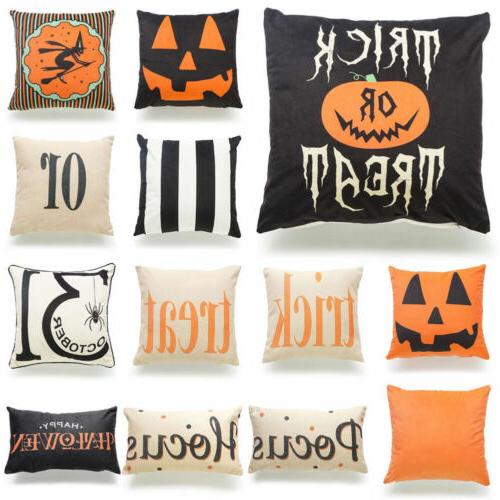 Halloween Pillows Cover Fall Decor Pillow Case Sofa Throw Cu