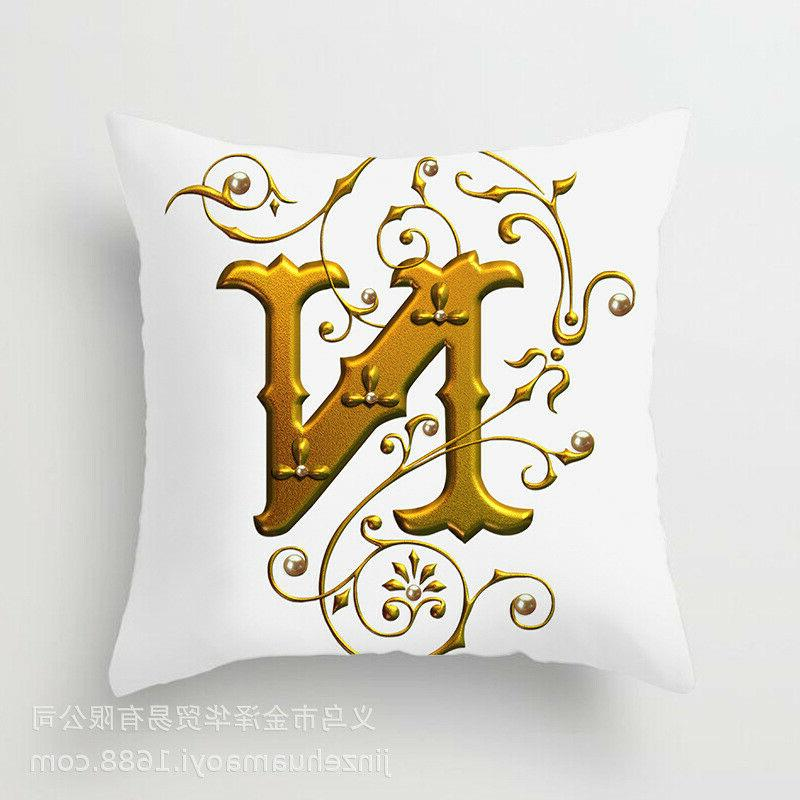 26 Letter case throw cushion for Decoration