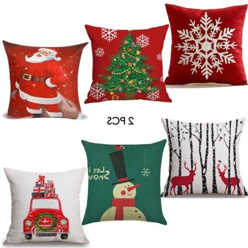 2pc Covers Cases Couch Sofa Santa