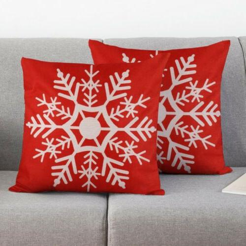 2pc Covers Pillowcase for Couch Snowman