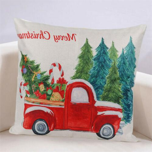 "2PCS 18"" Christmas Pillow Santa Claus"