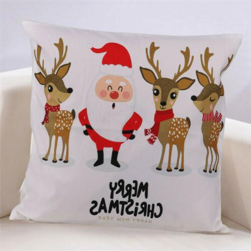 2PCS Christmas Couch Cases Cotton Santa