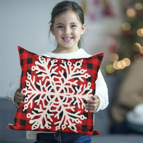 2PCS Christmas Pillow Covers Couch Linen