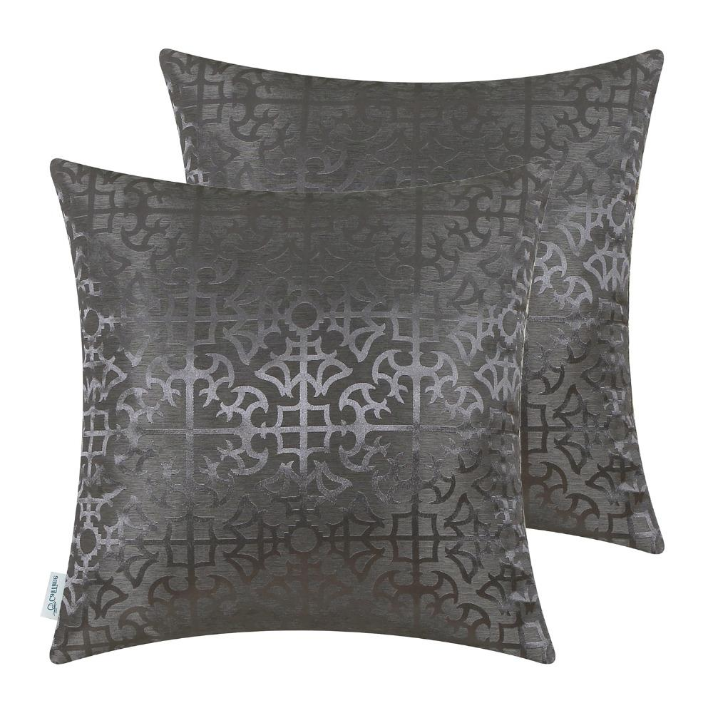 2PCS <font><b>CaliTime</b></font> Covers Cases for Sofa Vintage Cross Geometric X 18 Inches