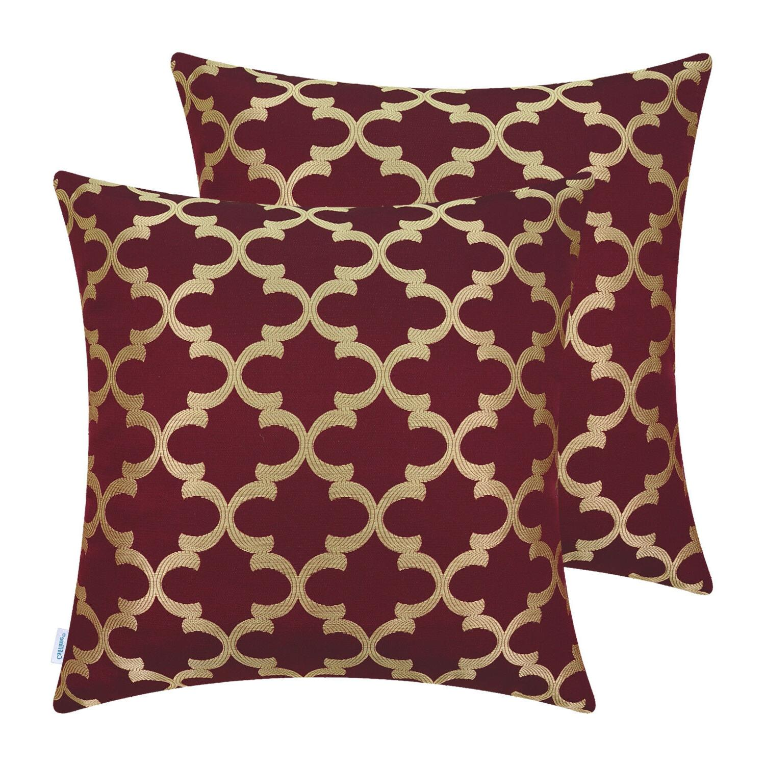 2Pcs Pillows Cushion Shells Accent Geometric Sofa