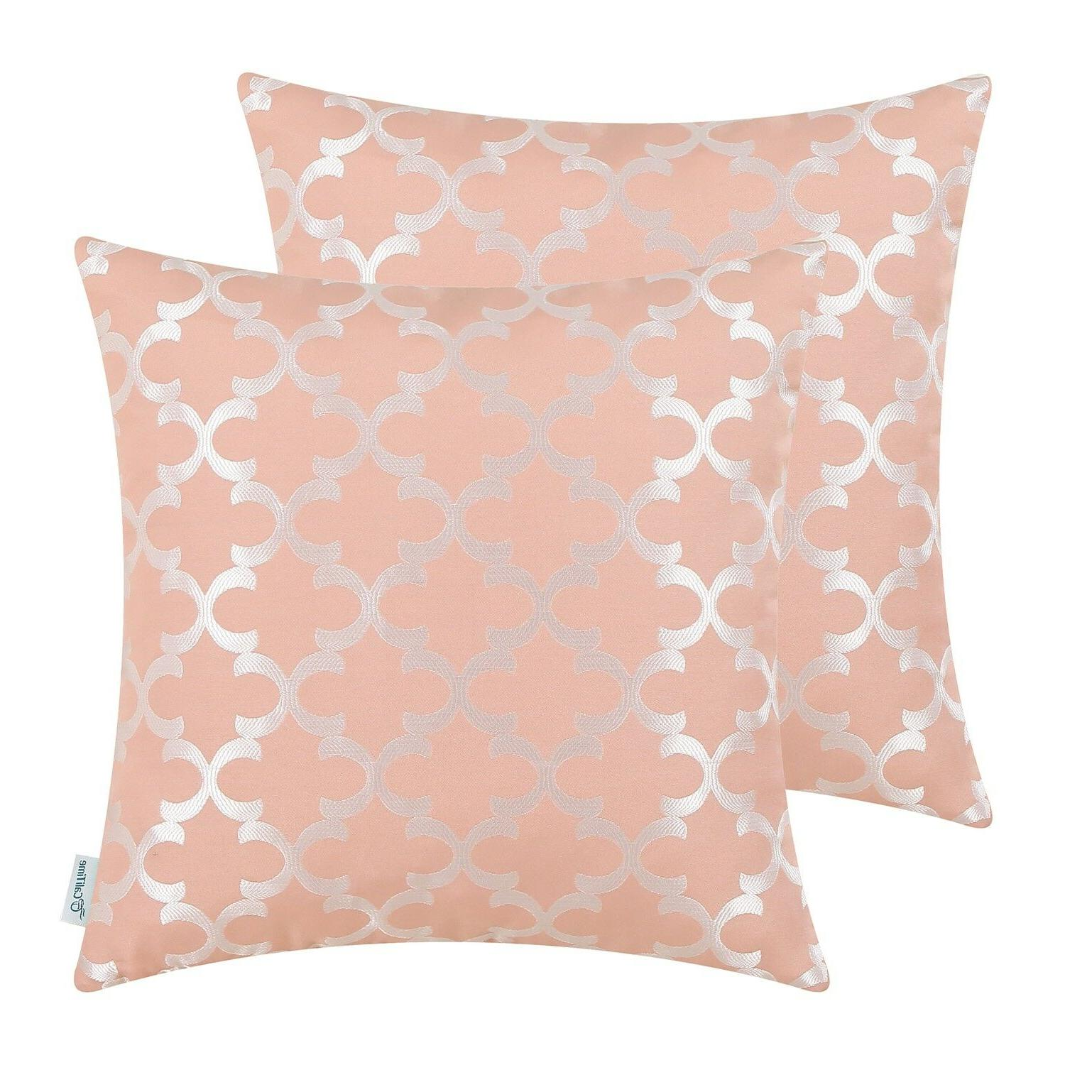 2Pcs Pillows Geometric 18x18""