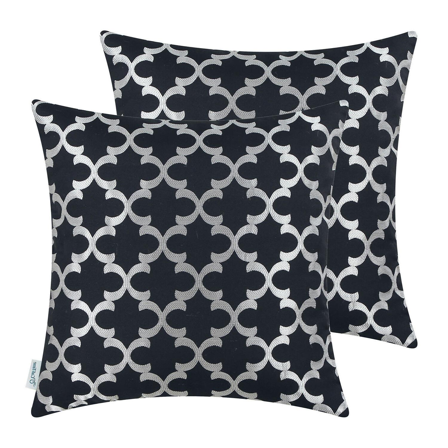 2Pcs Cushion Geometric 18x18""