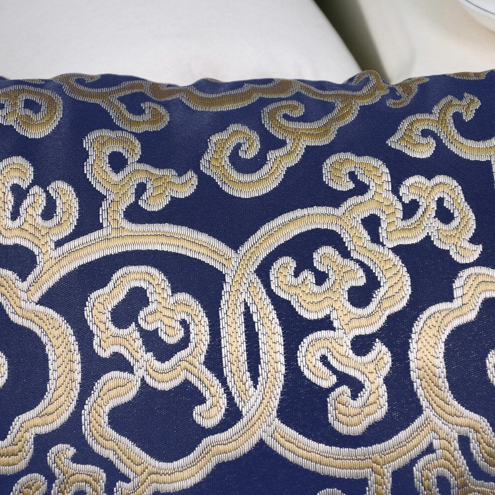 "2PCS <font><b>Throw</b></font> <font><b>Pillow</b></font> for Couch Floral Chain 18"" Navy <font><b>Blue</b></font>"