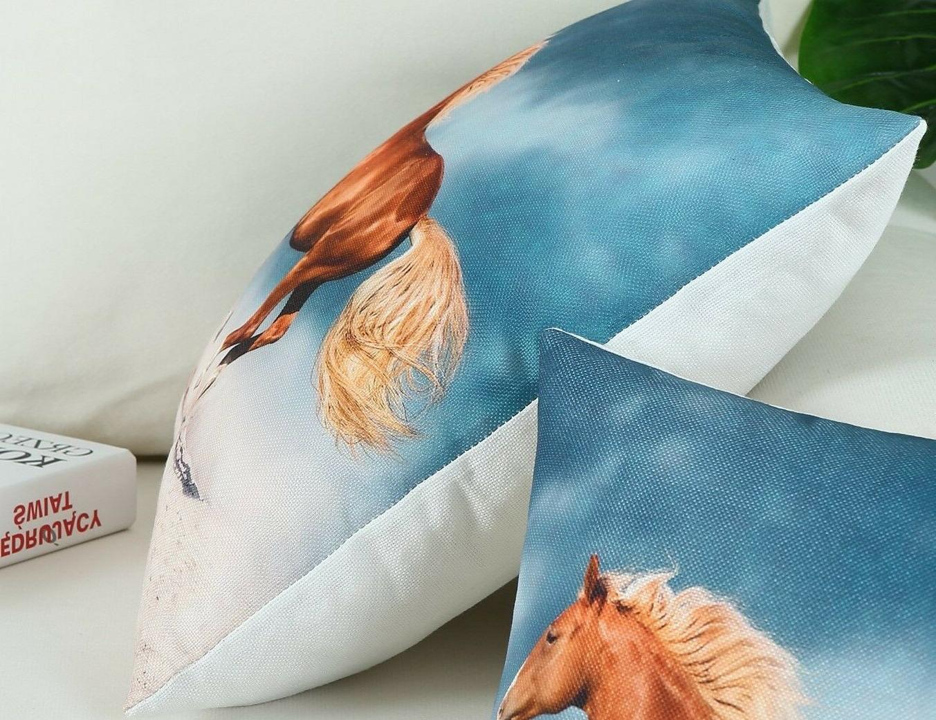 3 CaliTime Print Pillow Covers - 18 x - 3 Different Prints
