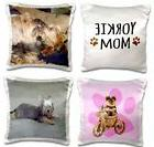 💗 3dRose Yorkie Pillow Cases Yorkshire Dog Dogs Throw Bed