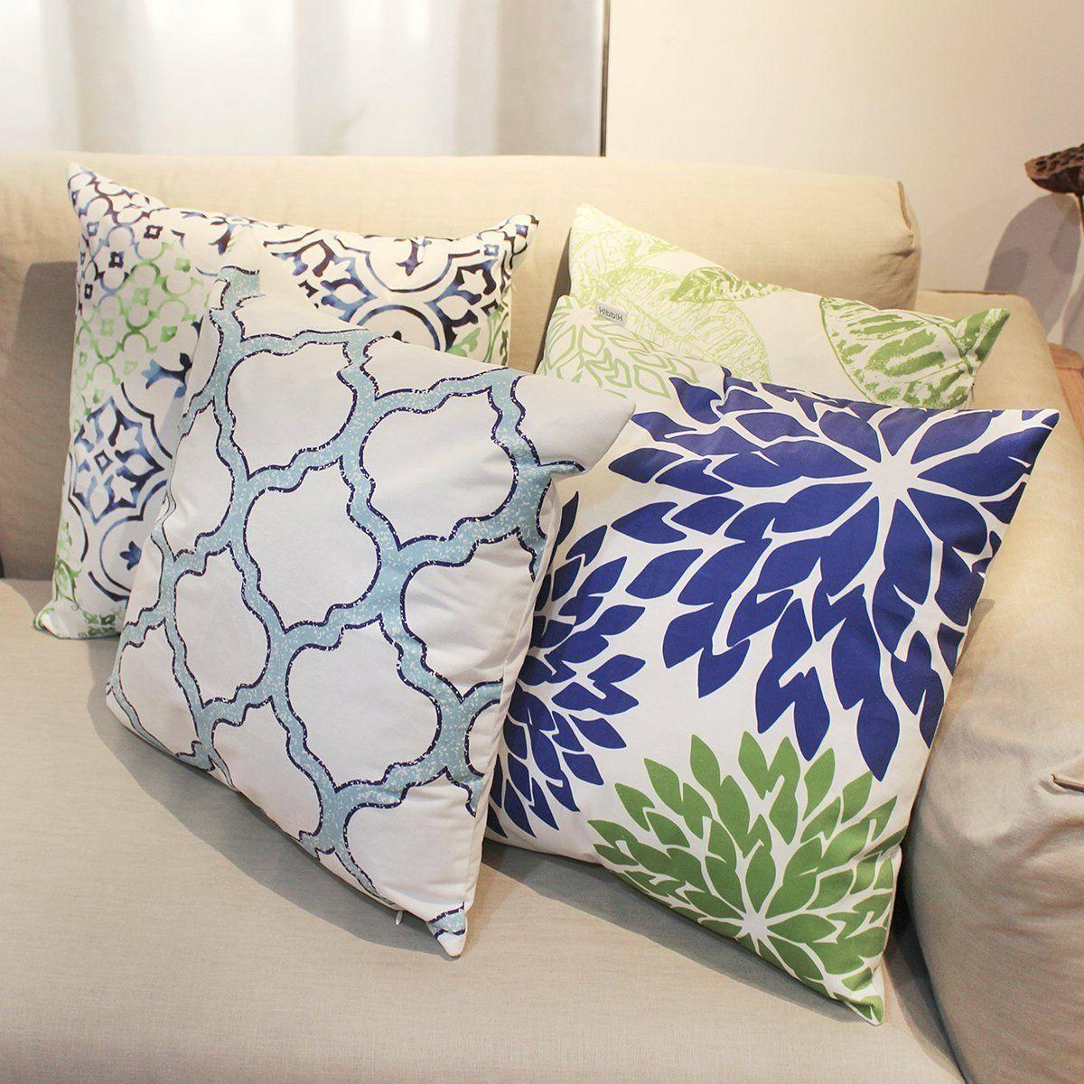 4 New Living Decorative Throw Pillow