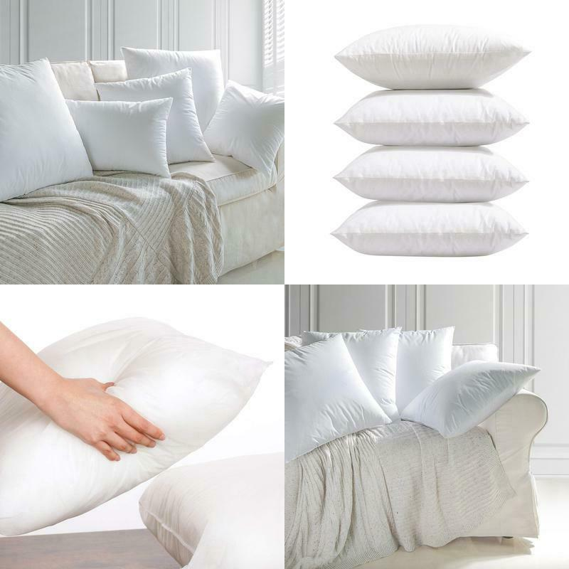 4 packs throw pillow inserts hypoallergenic square