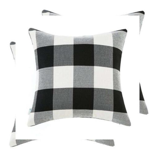 Anickal Set of 2 Farmhouse Decorative Throw Pillow Covers Bu