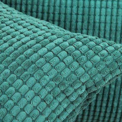 CaliTime of Comfy Throw Cases Sofa Bed Supersoft Corn 18 Teal