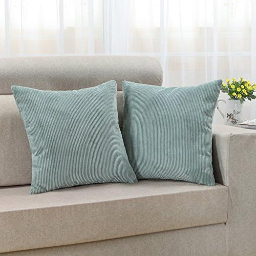 CaliTime Cozy Pillow Covers Cases for Couch Bed X 18 Egg