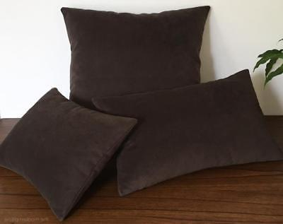 Chocolate Brown Velvet Suede Decorative