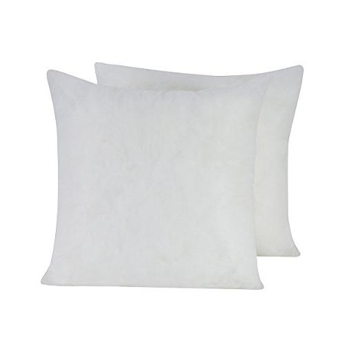 HOMESJUN Set of 2, Square Decorative Poly Throw Pillow Inser